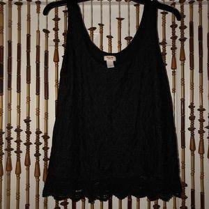 Black MOSSIMO tank top blouse